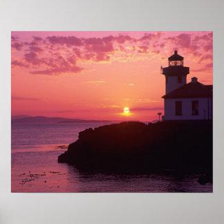 WA, isla de San Juan, horno de cal Lighthouse, 191 Póster