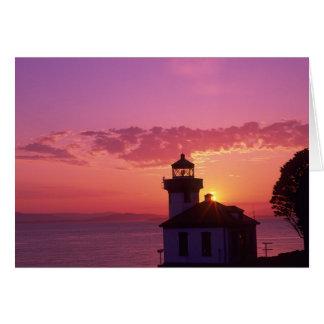 WA, isla de San Juan, horno de cal Lighthouse, 191 Tarjeta De Felicitación