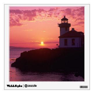 WA, isla de San Juan, horno de cal Lighthouse, 191 Vinilo Adhesivo