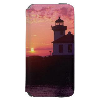 WA, isla de San Juan, horno de cal Lighthouse, Funda Billetera Para iPhone 6 Watson