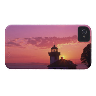 WA, isla de San Juan, horno de cal Lighthouse, iPhone 4 Case-Mate Protectores