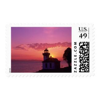 WA, isla de San Juan, horno de cal Lighthouse, Sello Postal