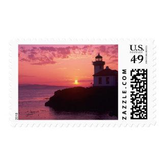 WA, isla de San Juan, horno de cal Lighthouse, Sellos Postales