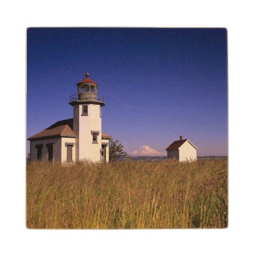 WA, Maury Island, Point Robinson Lighthouse, Wood Coaster