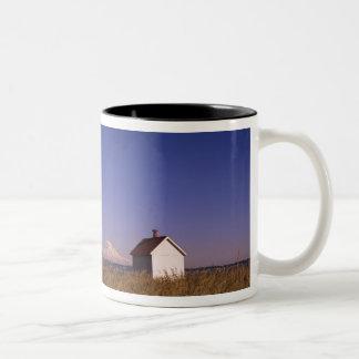 WA, Maury Island, Point Robinson Lighthouse, Two-Tone Coffee Mug