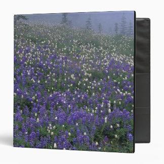 WA, Mt. Rainier NP, Lupine and Bistort meadow Vinyl Binder