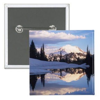 WA, Mt. Rainier NP, Mt. Rainier and clouds Buttons