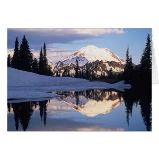 WA, Mt. Rainier NP, Mt. Rainier and clouds Card