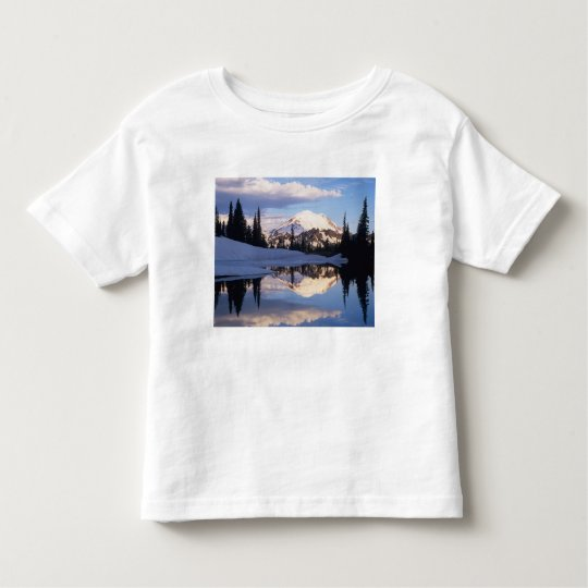 WA, Mt. Rainier NP, Mt. Rainier and clouds Toddler T-shirt