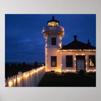 WA, Mukilteo, Mukilteo Lighthouse, established 2 Poster
