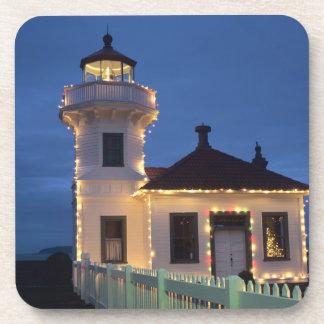 WA Mukilteo Mukilteo Lighthouse established Drink Coaster