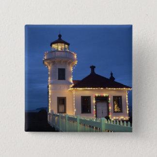 WA, Mukilteo, Mukilteo Lighthouse, established Pinback Button