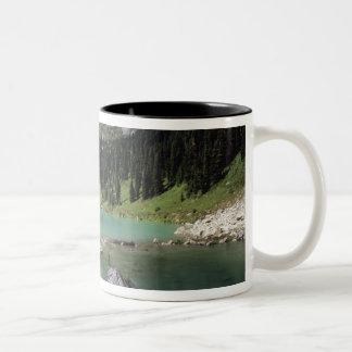 WA, Okanogan NF, Lewis Lake and Black Peak Two-Tone Coffee Mug