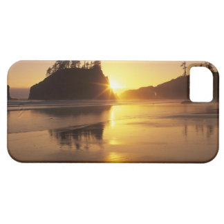 WA, Olympic NP, Second Beach at sunset iPhone SE/5/5s Case