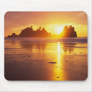 WA, Olympic NP, Shi Shi beach at sunset, Point Mouse Pad