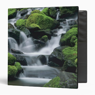 WA, Olympic NP, Sol Duc Valley, stream with 3 Ring Binder