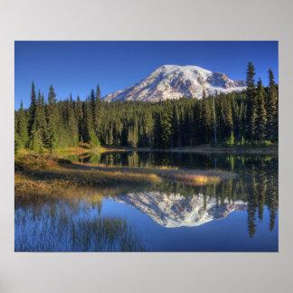 WA, parque nacional del Monte Rainier, el Monte Ra Póster