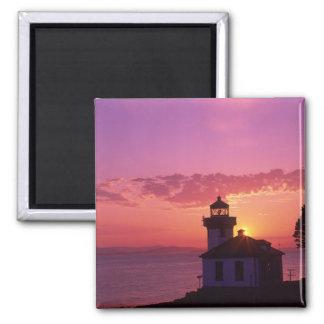 WA, San Juan Island, Lime Kiln Lighthouse, 1919, 2 Magnet