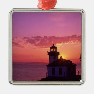 WA, San Juan Island, Lime Kiln Lighthouse, 1919, 2 Metal Ornament
