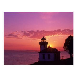 WA, San Juan Island, Lime Kiln Lighthouse, 1919, 2 Postcard