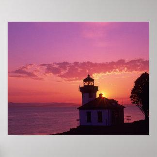 WA, San Juan Island, Lime Kiln Lighthouse, 1919, 2 Poster