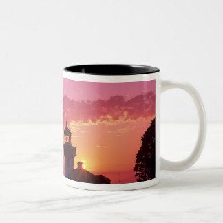 WA, San Juan Island, Lime Kiln Lighthouse, 1919, 2 Two-Tone Coffee Mug