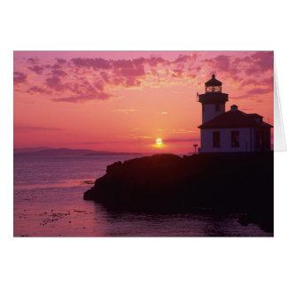 WA, San Juan Island, Lime Kiln Lighthouse, 1919, Card