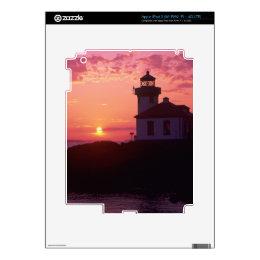 WA, San Juan Island, Lime Kiln Lighthouse, 1919, iPad 3 Skin