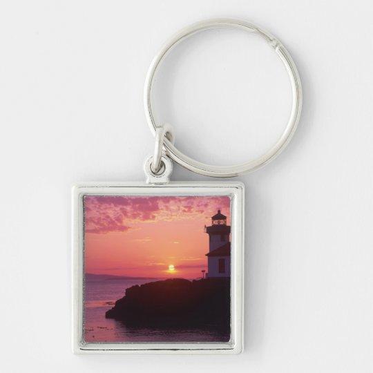 WA, San Juan Island, Lime Kiln Lighthouse, 1919, Keychain