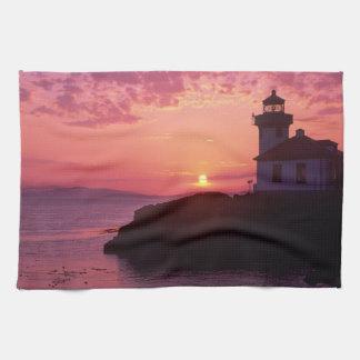 WA, San Juan Island, Lime Kiln Lighthouse, 1919, Kitchen Towel