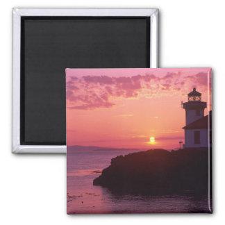 WA, San Juan Island, Lime Kiln Lighthouse, 1919, Fridge Magnets