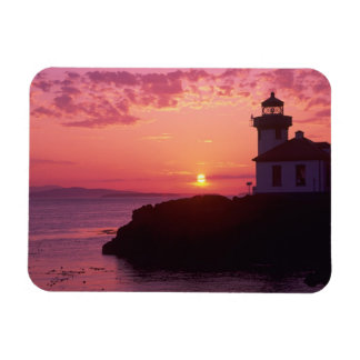 WA, San Juan Island, Lime Kiln Lighthouse, 1919, Magnet