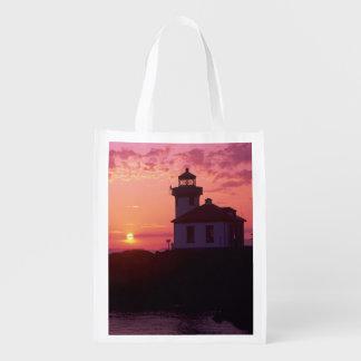 WA, San Juan Island, Lime Kiln Lighthouse, 1919, Market Totes