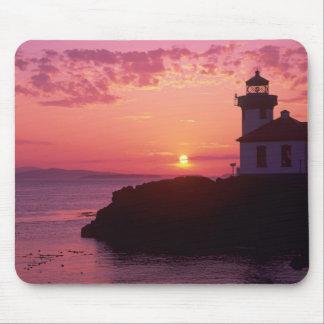 WA, San Juan Island, Lime Kiln Lighthouse, 1919, Mouse Pad