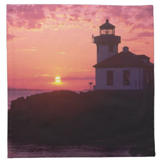 WA, San Juan Island, Lime Kiln Lighthouse, 1919, Napkin
