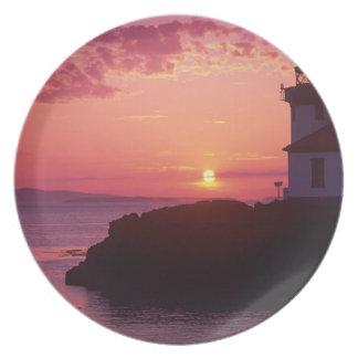 WA, San Juan Island, Lime Kiln Lighthouse, 1919, Party Plate