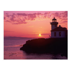 Wa, San Juan Island, Lime Kiln Lighthouse, 1919, Postcard at Zazzle
