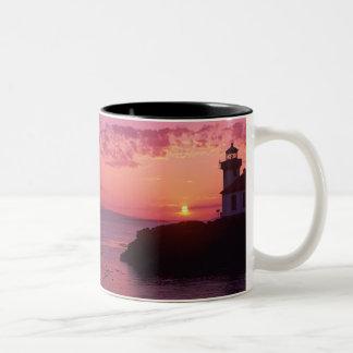 WA, San Juan Island, Lime Kiln Lighthouse, 1919, Two-Tone Coffee Mug