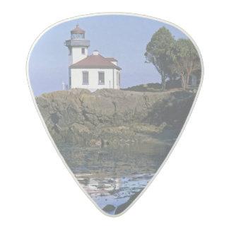WA, San Juan Island, Lime Kiln lighthouse Acetal Guitar Pick
