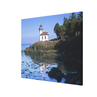 WA, San Juan Island, Lime Kiln lighthouse Canvas Print