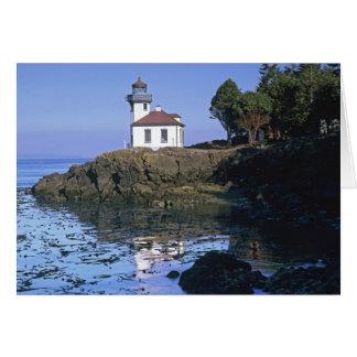 WA, San Juan Island, Lime Kiln lighthouse Card