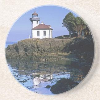 WA, San Juan Island, Lime Kiln lighthouse Coaster