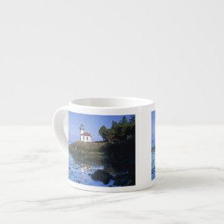 WA, San Juan Island, Lime Kiln lighthouse Espresso Cup