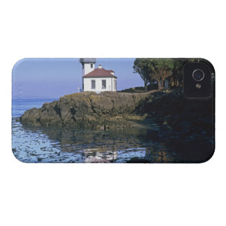 WA, San Juan Island, Lime Kiln lighthouse iPhone 4 Case-Mate Case