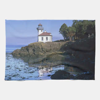 WA, San Juan Island, Lime Kiln lighthouse Hand Towel