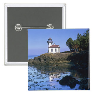 WA, San Juan Island, Lime Kiln lighthouse Pinback Button