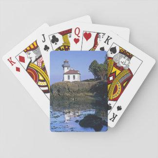 WA, San Juan Island, Lime Kiln lighthouse Playing Cards