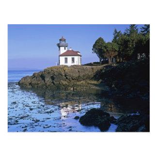 WA, San Juan Island, Lime Kiln lighthouse Postcard