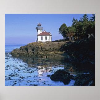 WA, San Juan Island, Lime Kiln lighthouse Poster