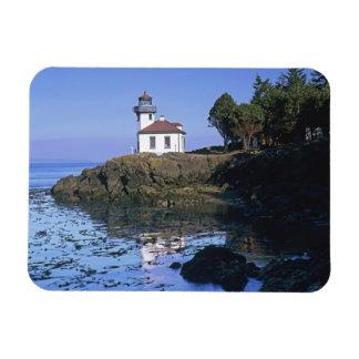 WA, San Juan Island, Lime Kiln lighthouse Rectangular Photo Magnet